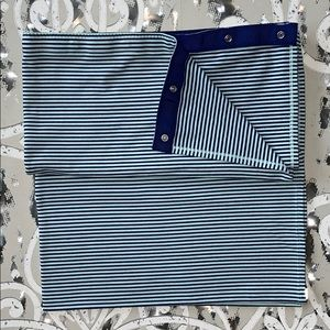LULULEMON Blue Striped Vinyasa Scarf